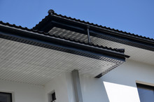 Roof Overhang With Rain Gutter...