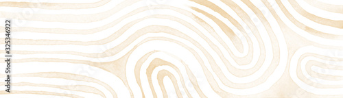 Beige abstract stripes watercolor horizontal background Canvas Print