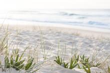 Sunrise Light On White Sand Be...