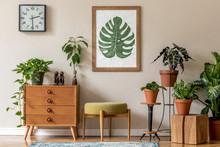 Vintage Interior Design Of Liv...