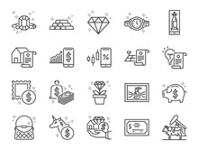 Asset Line Icon Set. Included ...