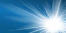 Ray Blue Background. Shiny Gra...