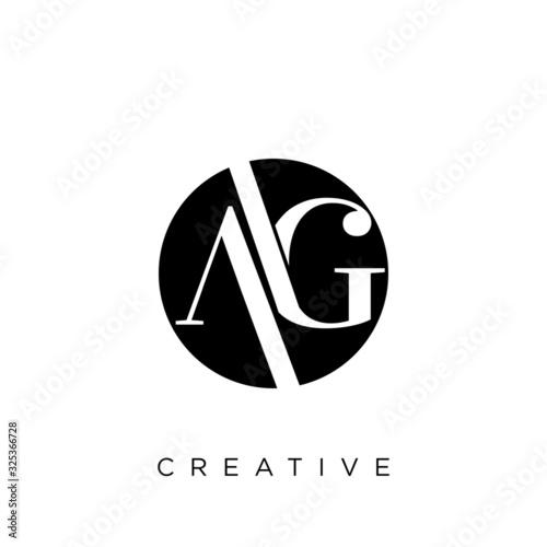 ag circle logo design vector Canvas Print