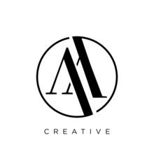 Aa Circle Logo Design Vector