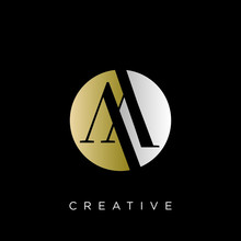 Aa Logo Circle Design