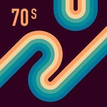70s, 1970 Abstract Vector Stoc...