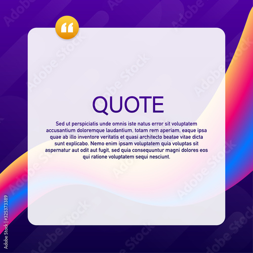 Quote background vector Canvas Print