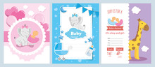 Set Of Baby Shower Cards With ...