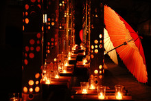 竹灯篭と竹傘のフィス...