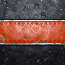 Strip Of Metal With Rivets Pai...