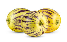 Pepino Melons Isolated On A Wh...