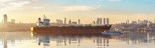 Ship And Bosphorus Strait