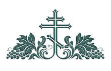 Orthodox Crucifix Decorated Wi...