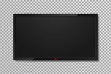 Realistic TV Screen Template W...