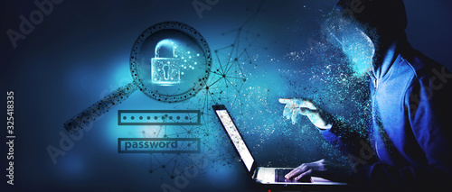 Fotomural Data protection and cyber security concept