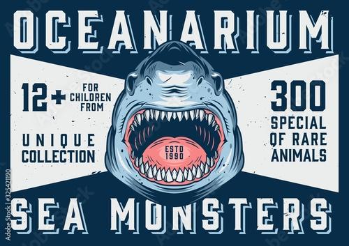 Photographie Oceanarium advertising horizontal template