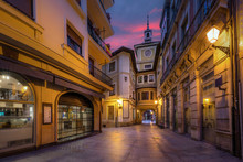 Oviedo, Spain. Clock Tower Of ...