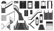 Staircase And Lift Vector Blac...