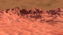 Alien World .  Exoplanet Surface Desert Landscape  . 3D Rendering Illustration