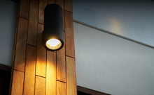 Lamp On Wooden Tile Decoration...