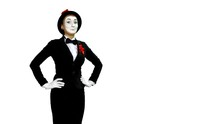 Funny Woman Mime Shows And Spe...