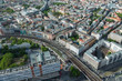 Ausblick vom Berliner Fernsehturm am Alexanderplatz