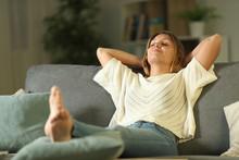 Satisfied Homeowner Resting On...