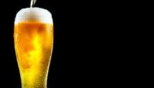 Beer. Cold Craft Light Beer Po...