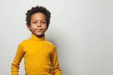 Portrait Of Smart Little Black...