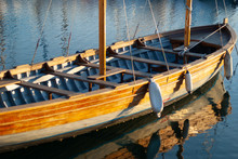 Traditional Wooden Sail Row Boat