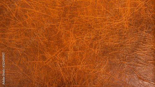 Photographie Beautiful brown background - artificial material, dermantine, imitation leather