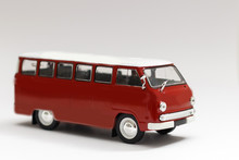 Vintage Red School Bus, Isolat...