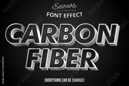 Vászonkép Metallic silver and black pattern text effect, shiny steel alphabet style