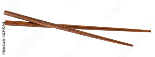 Leinwand Poster chopsticks isolated on white background