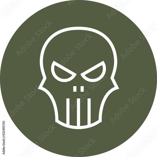 Punisher Skull Mortality Outline Icon Fototapet