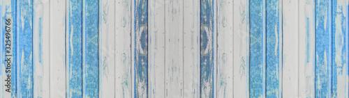Fototapeta deski  blue-painted-rustic-wooden-texture-background-banner-panorama-long
