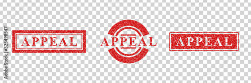 Vector realistic isolated red rubber stamp of Appeal logo for template decoration on the transparent background Canvas Print