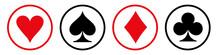 Set Card Suit Icon Sign - Stoc...