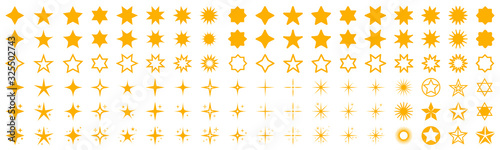 Obraz Stars set icons. Rating star signs collection – stock vector - fototapety do salonu