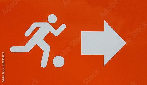 Photo Sinal de direcção á direita para o futebol