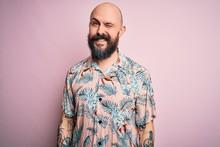 Handsome Bald Man With Beard A...