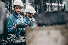 Engineer Team In Industry Fact...