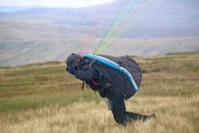 Paraglider Launching In The Br...