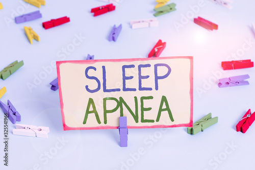 Handwriting text Sleep Apnea Wallpaper Mural