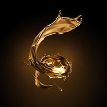 3d Rendering, Liquid Spiral Go...
