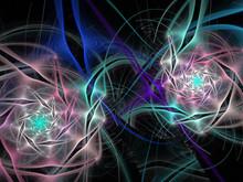 Abstract Fractal Spiral Backgr...