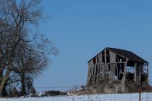 Destroyed Farm Barn Old House ...