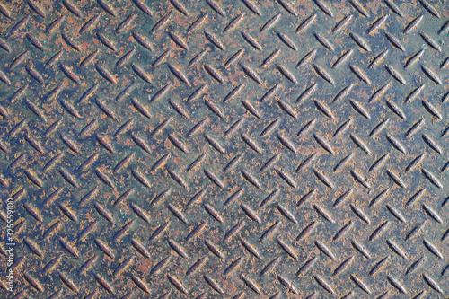 Fotografia, Obraz 錆のついた縞鋼板の表面