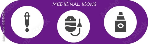 Modern Simple Set of medicinal Vector filled Icons Canvas Print