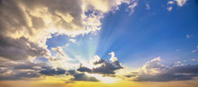 Beautiful Sunset Sky And Cloud...